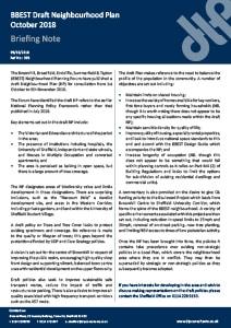 303 - BBEST Draft Neighbourhood Plan October 2018