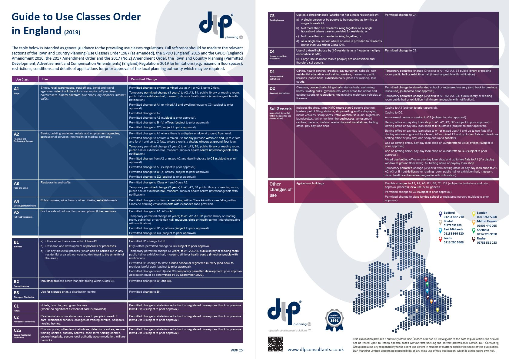 Guide to Use Classes Order in England Nov 2019