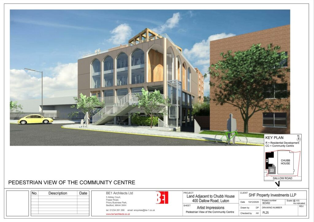 BE5492 - PL25 - Artist Impressions_Pedestrian View of the Community Centre